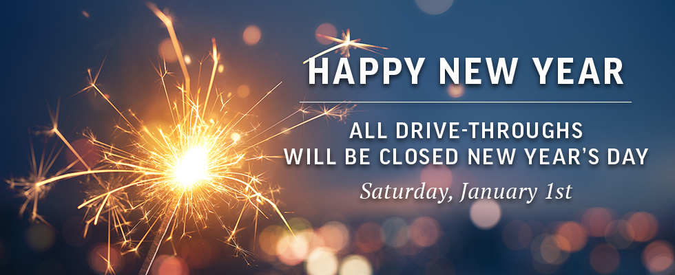 We will be closed on New Years Day.